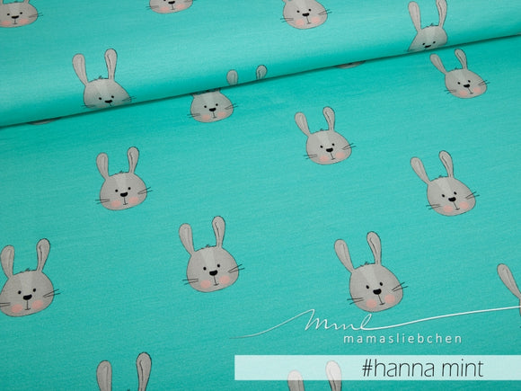 Hanna Mint Cotton Lycra Remnant