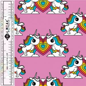 Rainbow Pink Unicorns Cotton Lycra