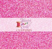 Sunset Pink Glitter Cotton Lycra Remnant