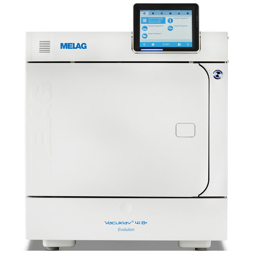 Melag autoclave 41B Evolution front view door closed