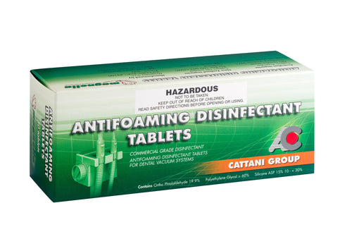 ANTIFOAMING DISINFECTANT TABLETS - PACK OF 10 BOXES