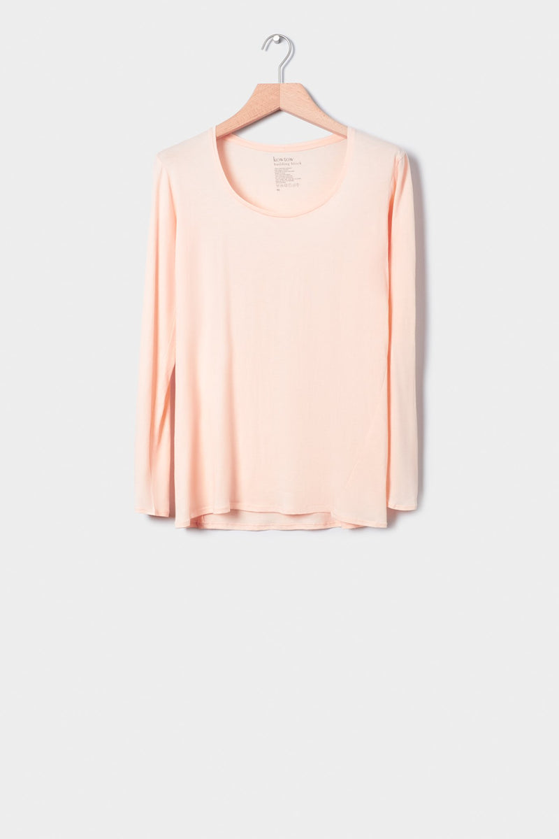 Building Block Long Sleeve Top, Light Pink