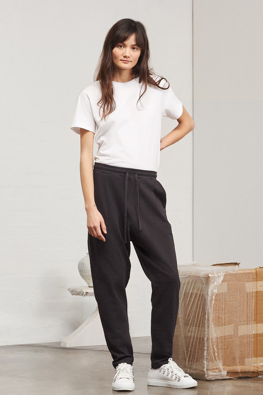 Building Block Lounge Pant, Black Marle