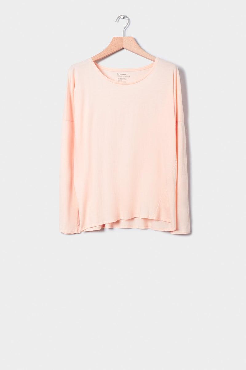 Building Block Relaxed Long Sleeve Top, Light Pink