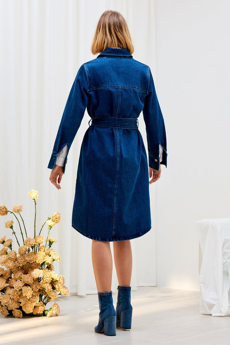 Contemporary Shirt Dress, Classic Denim