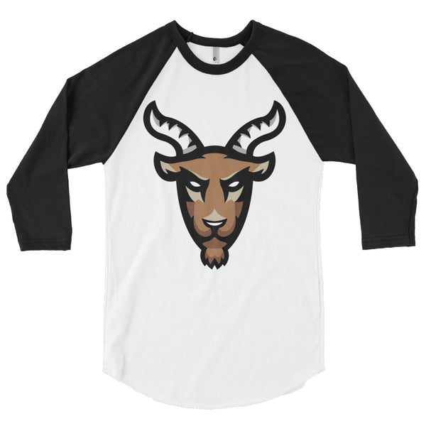 Mighty Goat Logo 3/4 Sleeve Raglan Shirt MADE IN THE USA