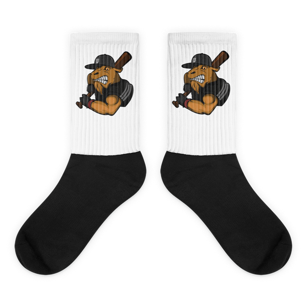 Mighty Goat Logo Black foot socks