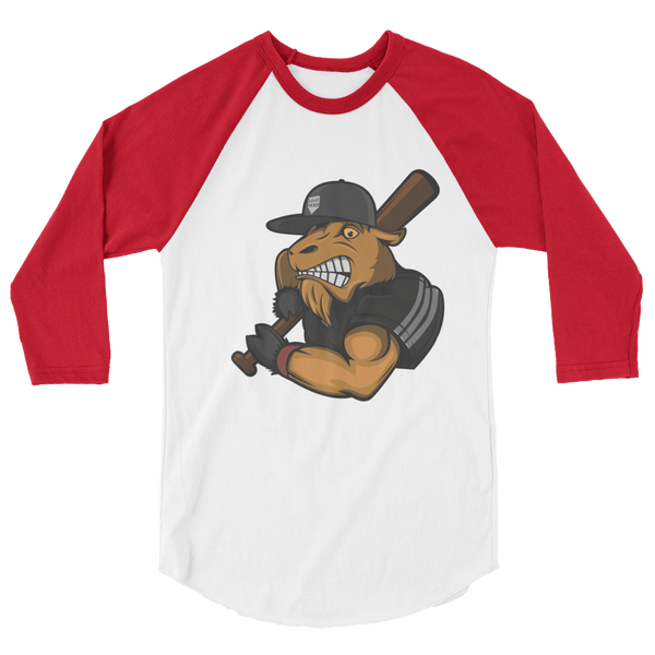 Mighty Goat Logo 3/4 sleeve raglan shirt