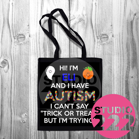 Autism Awareness Halloween Tote