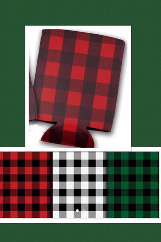 Buffalo Plaid Can Coolies