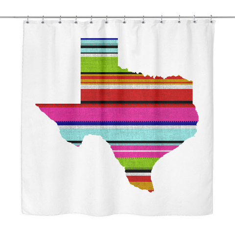 Serape Texas Shower Curtain