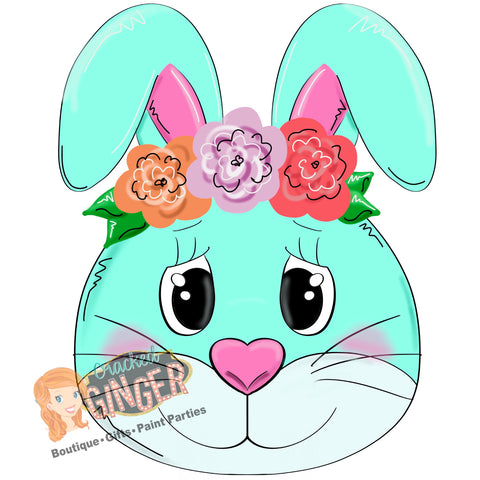 Flower Band Bunny Head