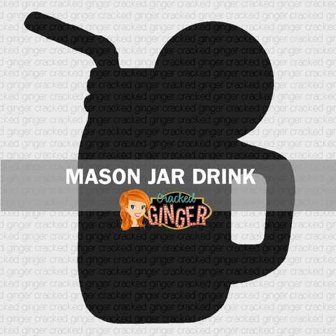 Mason Jar Drink Wood Cut Out Kit