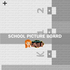 School Photo Board Template and Supply List ONLY