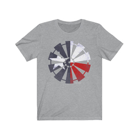 Texas Flag Windmill Unisex Jersey Short Sleeve Tee