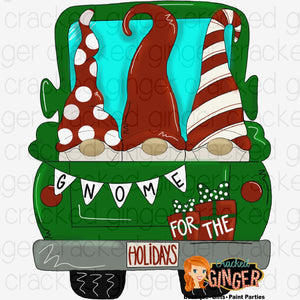 Gnome for the holidays Truck
