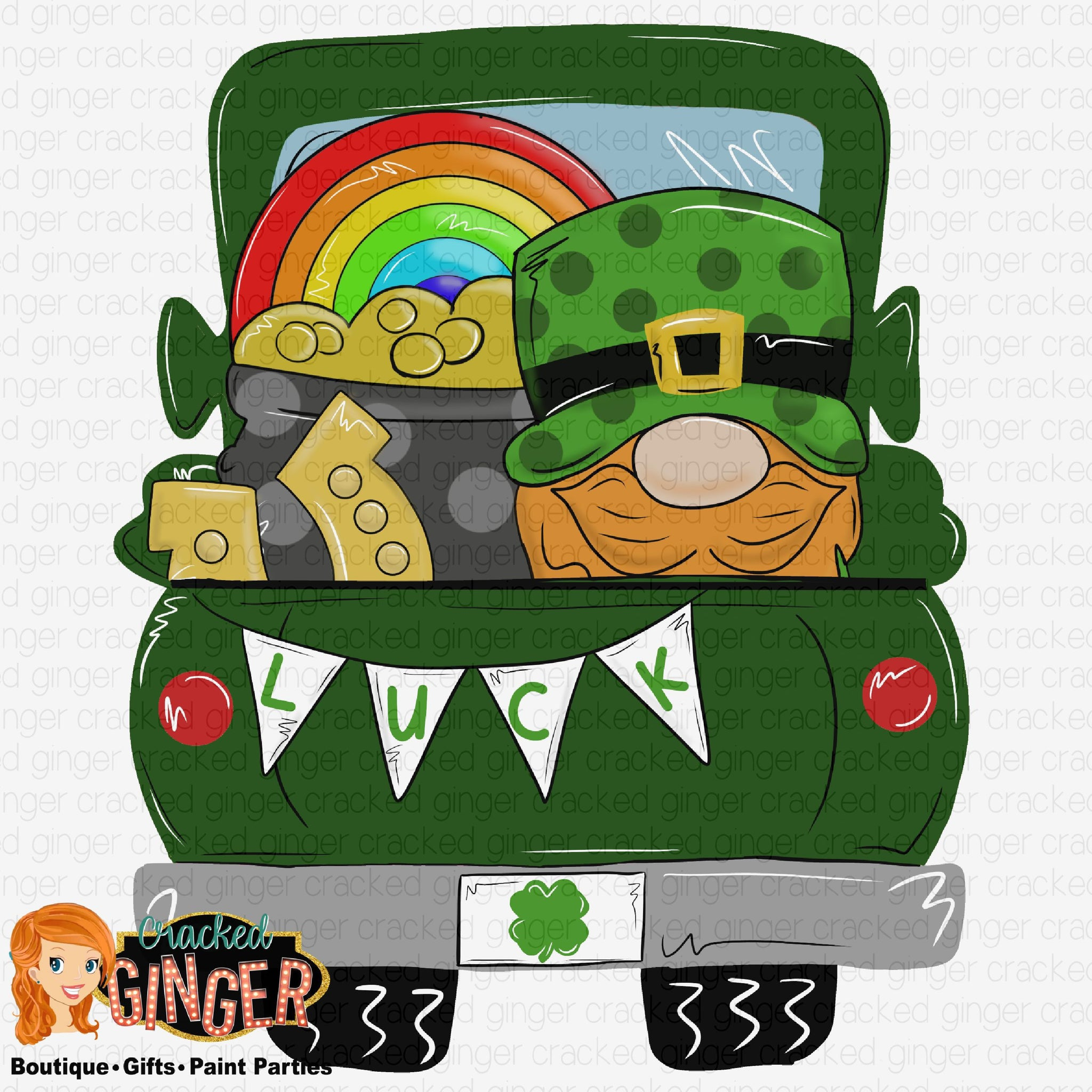 St Patrick's Day truck bed