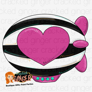 Heart Blimp Cutout and Kits