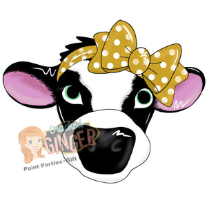 Cow with Bow