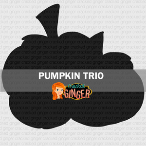 Pumpkin Trio Wood Cut Out Kit