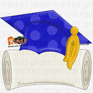 Graduate Cap and Diploma Cutout and Kits