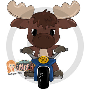 Moose on a motorcycle