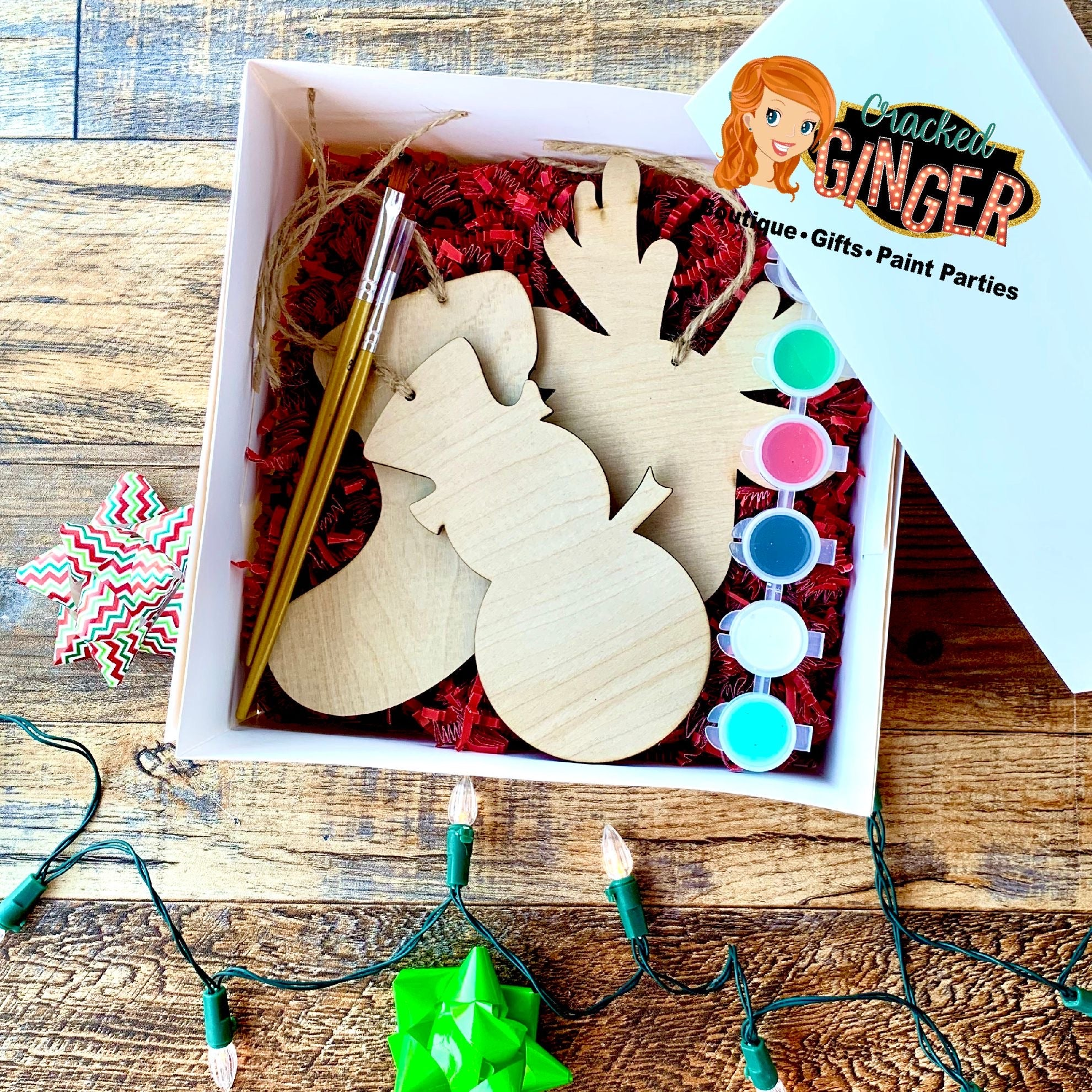 DIY plain ornament gift box set