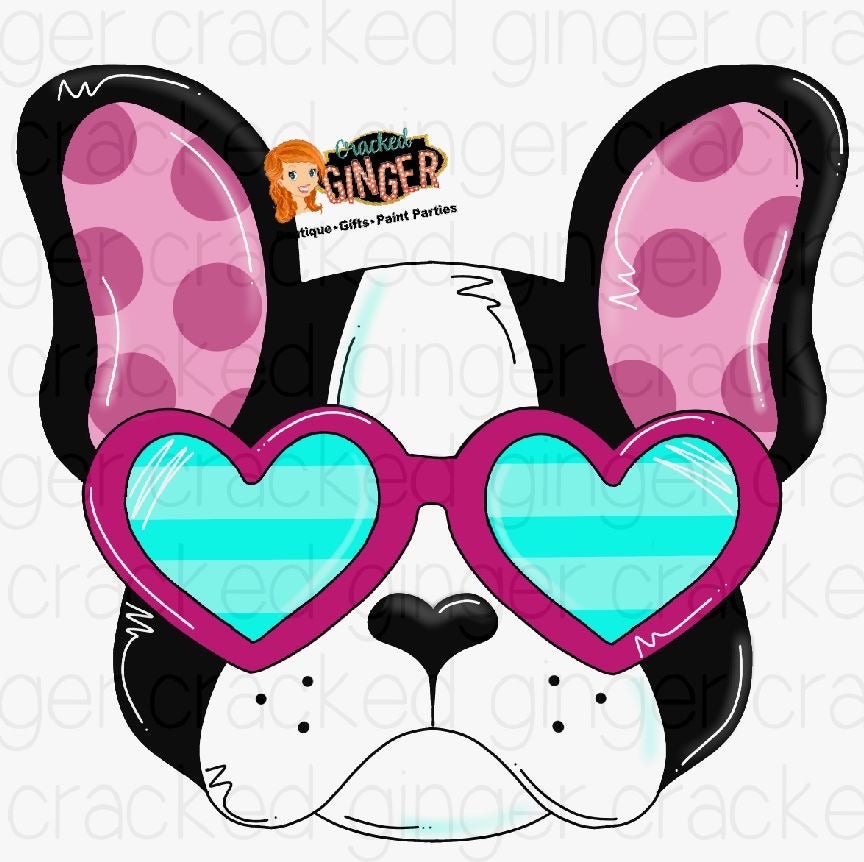 Dog with Sunglasses Cutout and Kits