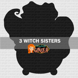 3 Witch Sisters Wood Cut Out Kit