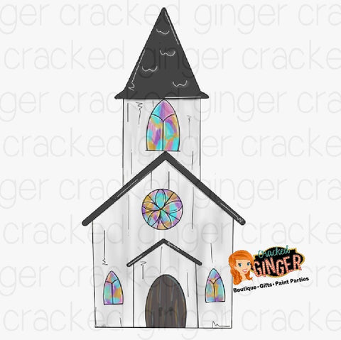 Spring Church Cutout and Kits