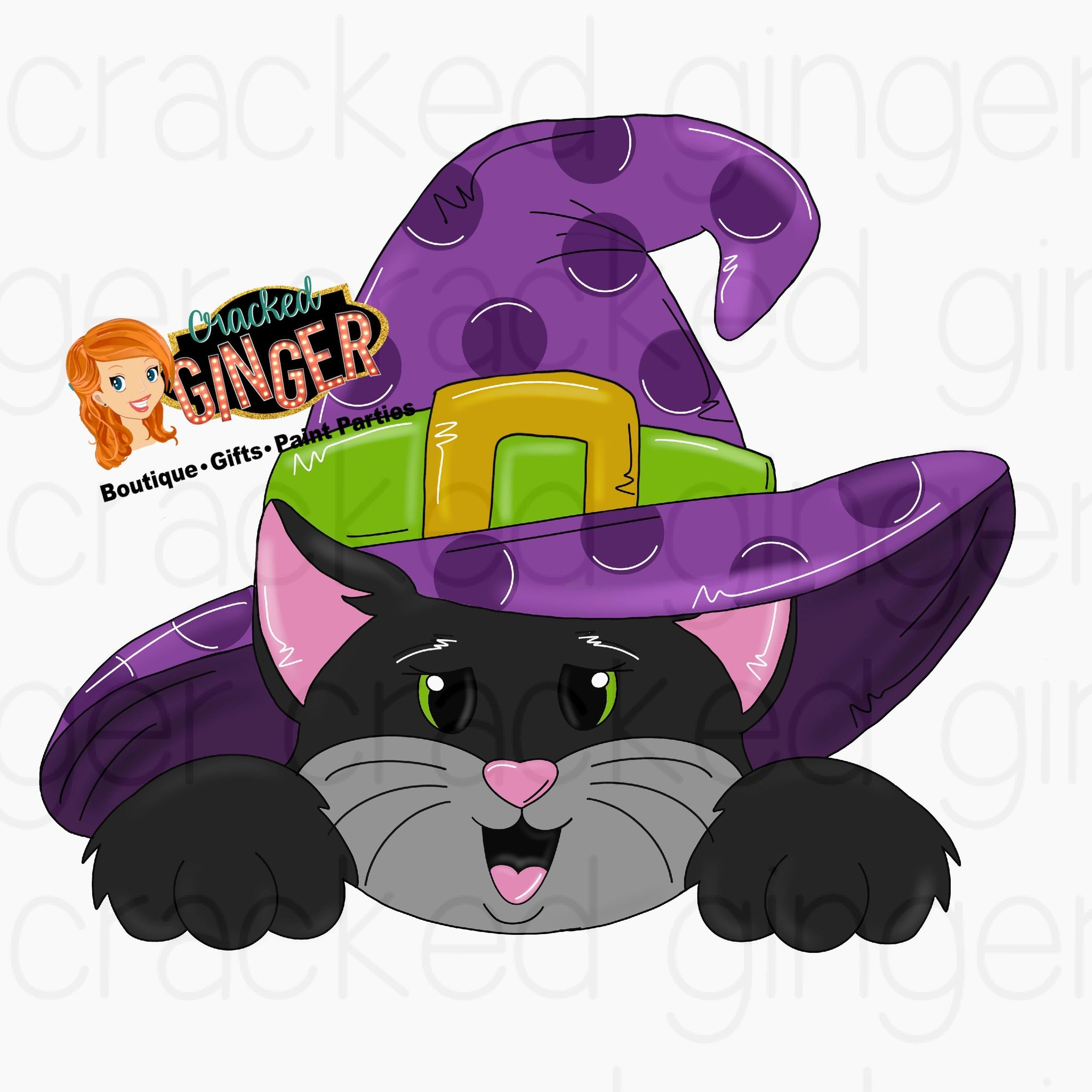 Cat in Witch hat