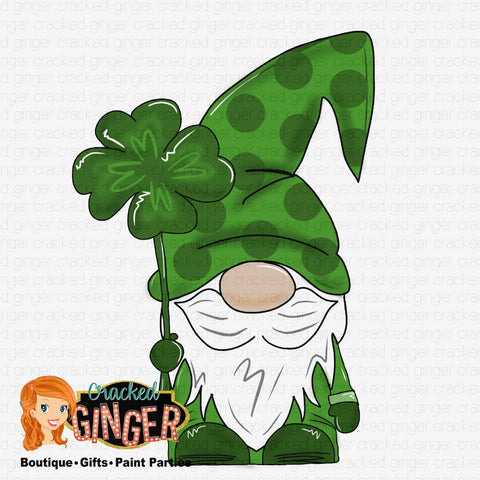 St Patrick's Day Gnome Template