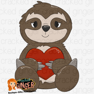 Sloth Valentine's Day Cutout and Kits