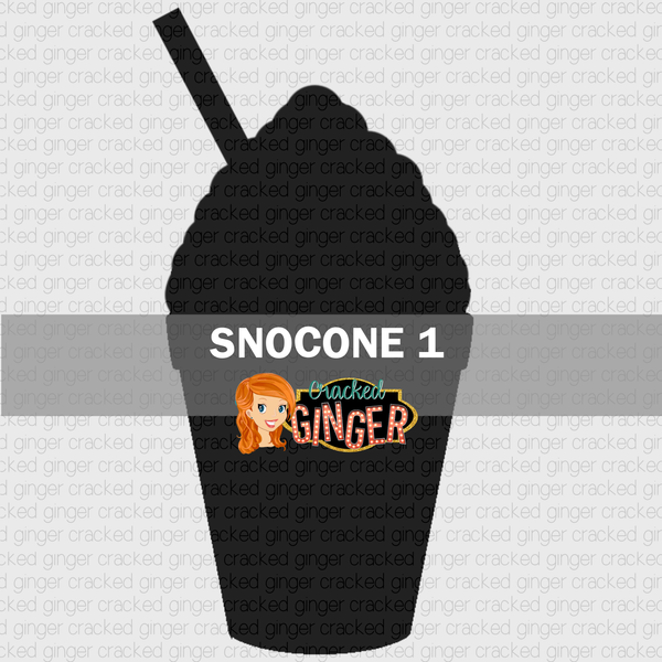 Snocone 1 Wood Cut Out Kit