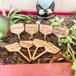 Funny Plant Markers Sign Gift Tags