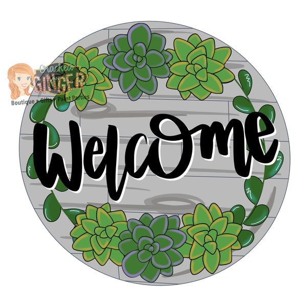 Succulent Welcome Round