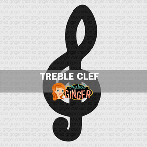 Treble Clef Wood Cut Out Kit