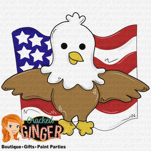 Eagle with Flag USA PatriotIc Template