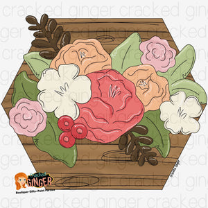 Hexagon Flower Box Cutout and Kits