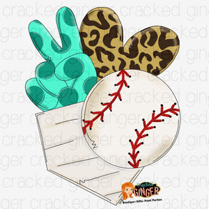 Peace Love Baseball Sports Cutout and Kits