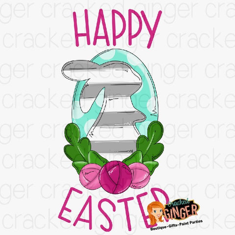 Easter Bunny Chic PNG Sublimation image instant download