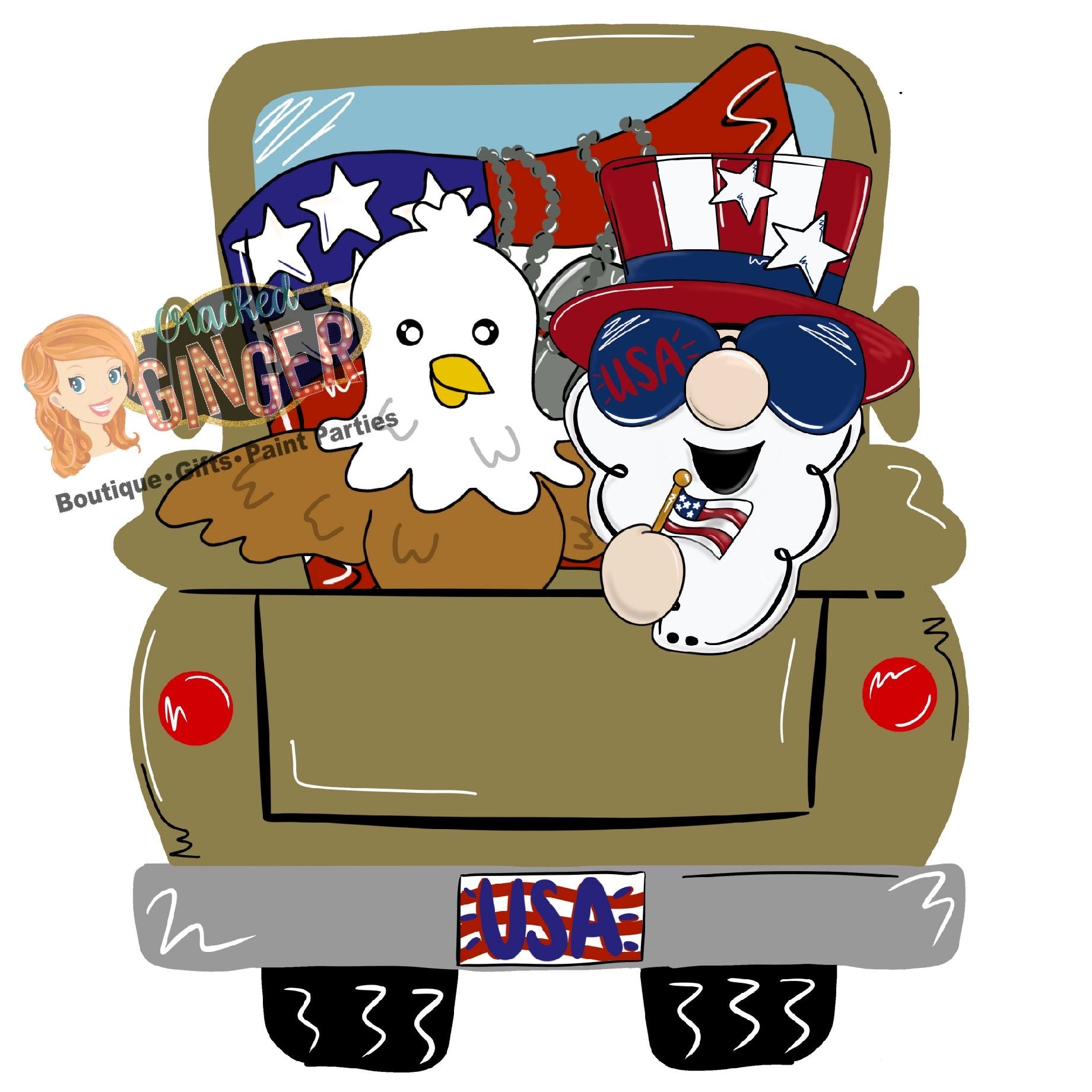 Military Patriotic Truck Bed