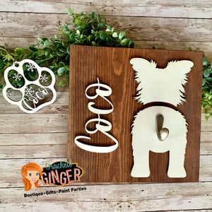 Personalized Pet Leash Holder