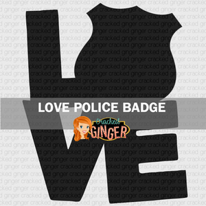 Love Police Badge Wood Cut Out Kit