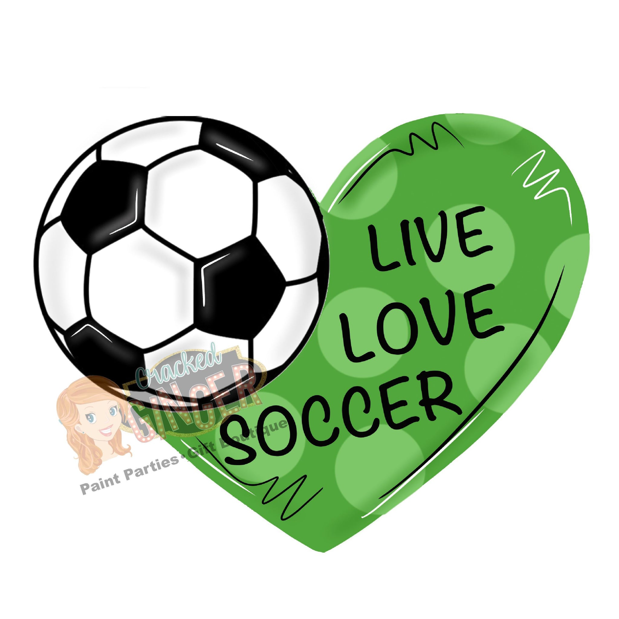 Live Love Soccer Heart Ball