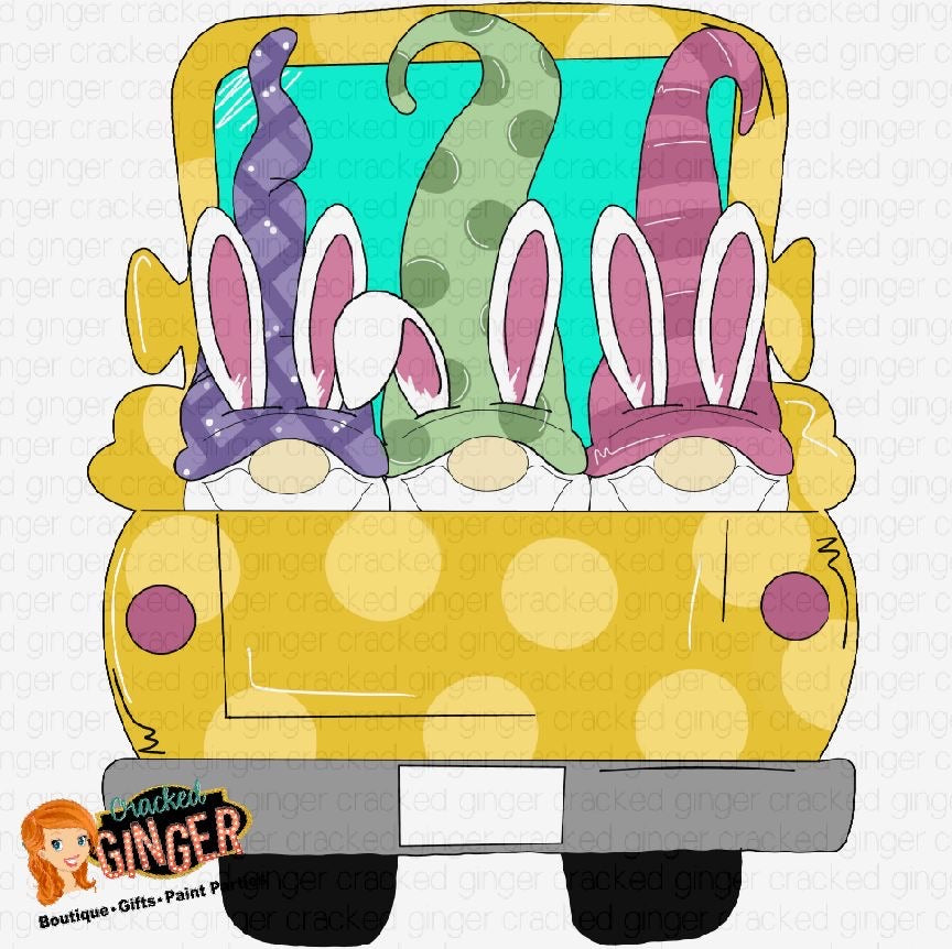 Easter Gnome Truck PNG Sublimation image instant download