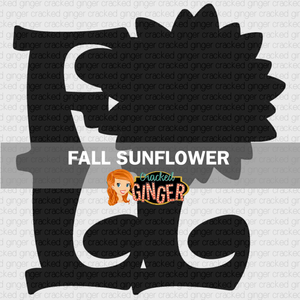 Fall with Sunflower Wood Cut-out Kit