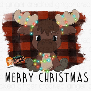 Christmas Moose PNG Sublimation image instant download