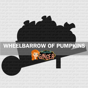Wheelbarrow of Pumpkins Wood Cut Out Kit