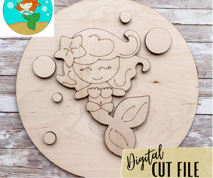 Mermaid Laser Cut File